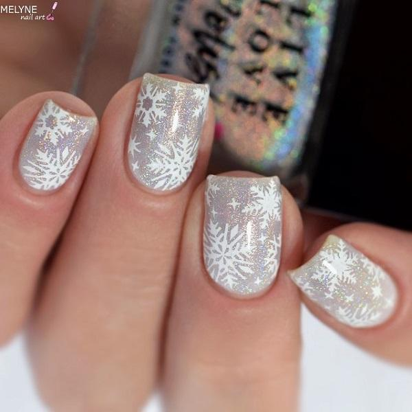 40 Snow Nail Art Ideas For Winter | Art and Design