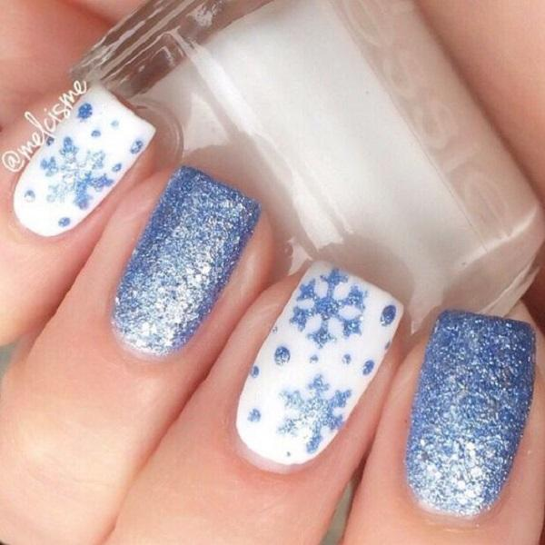 40 Snow Nail Art Ideas For Winter