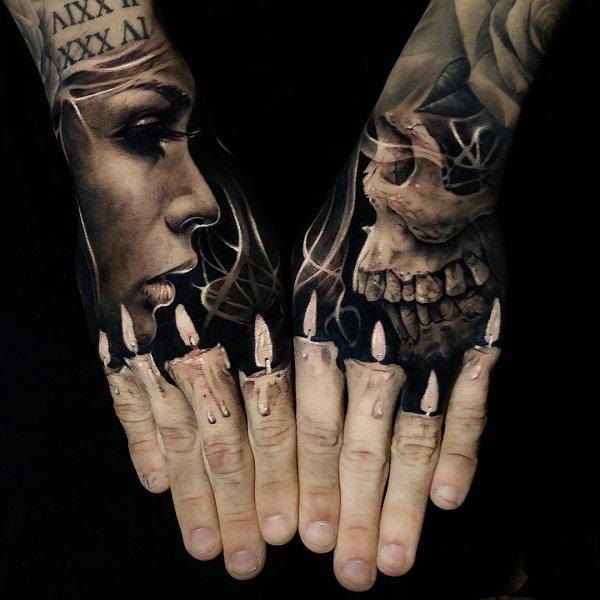 hands matching tattoo
