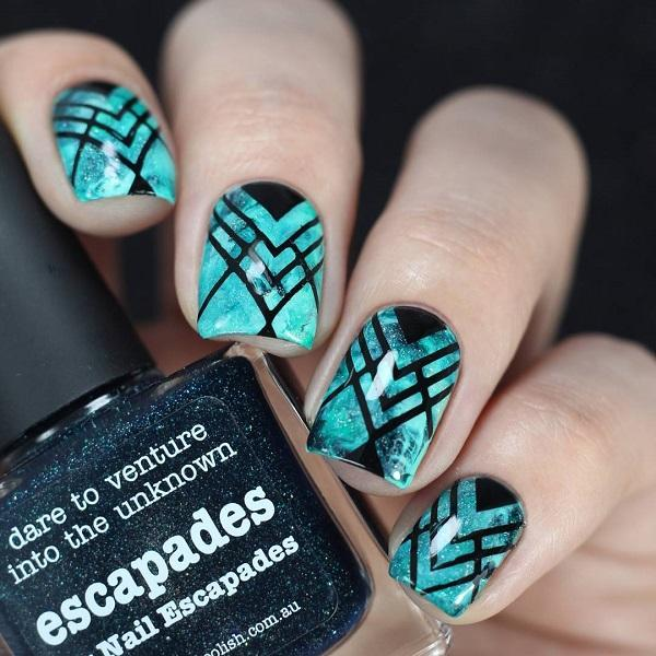 The universe on the nails is popular and we wrote about it. - 40 Geometric Nail Art Ideas Art And Design