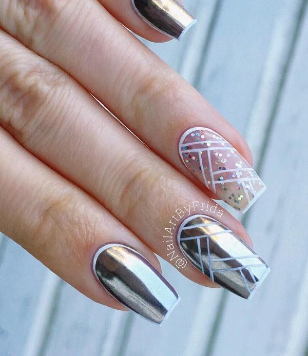 Diy Geometric Nail Art Design: 40 Geometric Nail Art Ideas