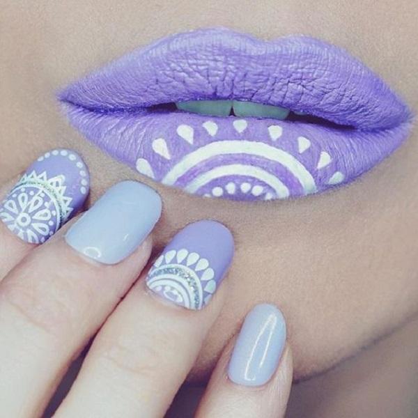 Matching nails and lipstick