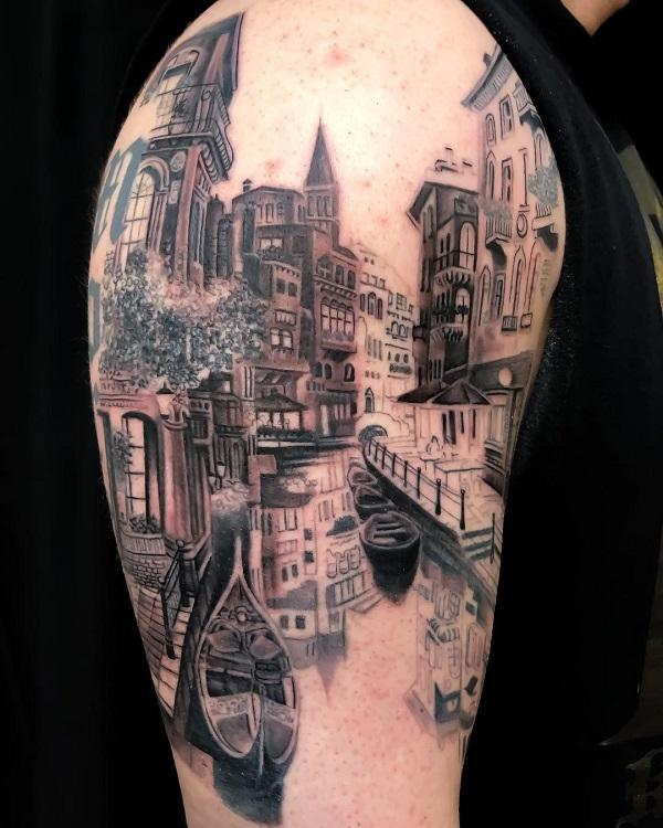 Stunning Designs That Changed The Way We Look At Things: 40 Landscape Tattoo Ideas