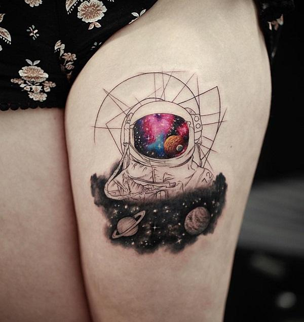 30 astronaut tattoo ideas art and design