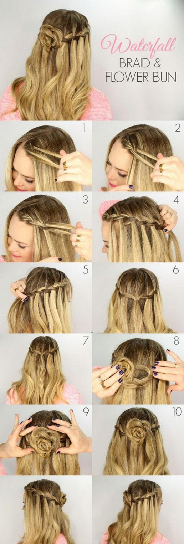 10 Easy Hairstyles for long hair  Cuded