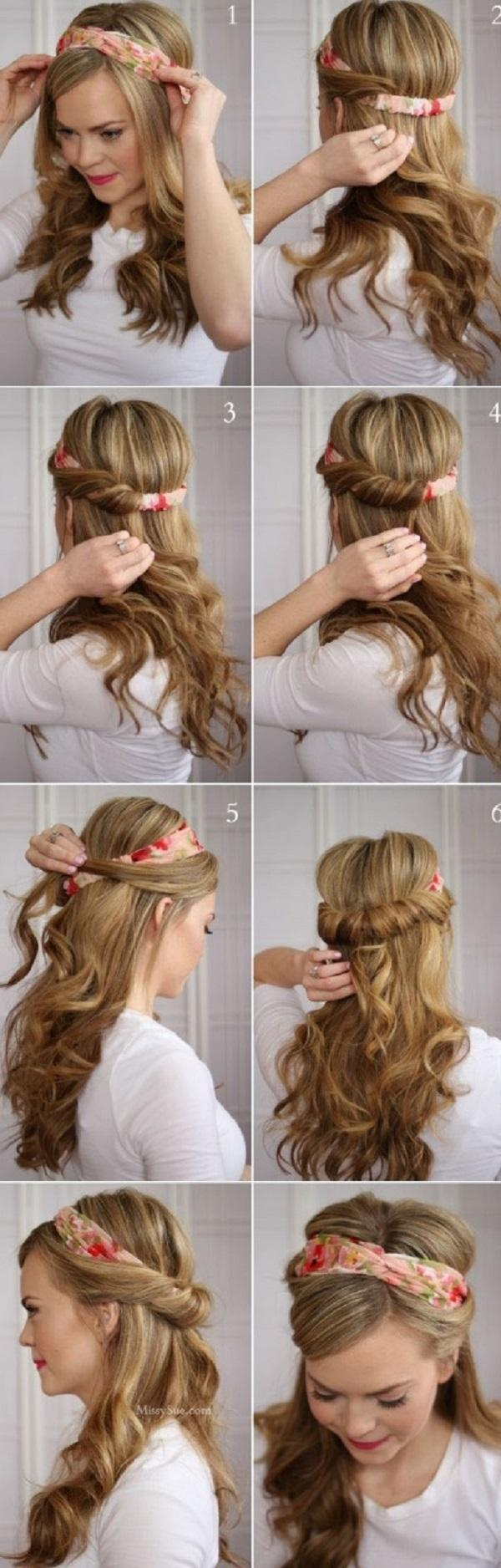12 Easy Hairstyles for long hair  Cuded