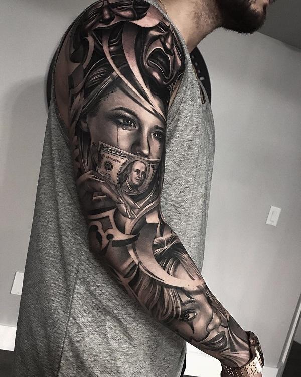 Tattoo Art Black And White: Realistic Tattoos By Greg Nicholson
