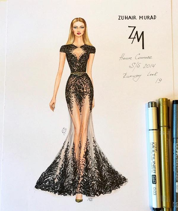 Fashion Illustrations By Natalia Zorin Liu