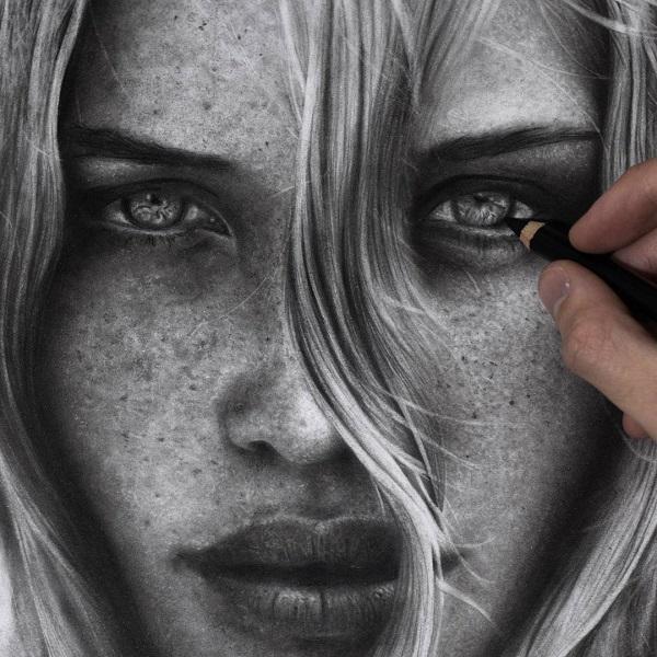 Black and White Pencil Art by Silvio Giannini