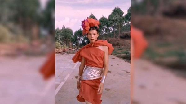 Fashion show by a talented China's Village Supermodel