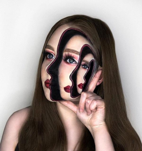 Fake Shadow Halloween makeup