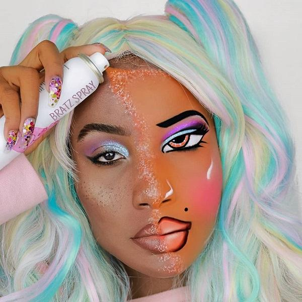 Glitter Fall Halloween makeup