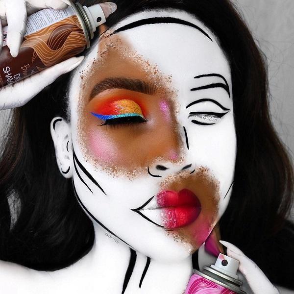 Buried ashen face Halloween makeup