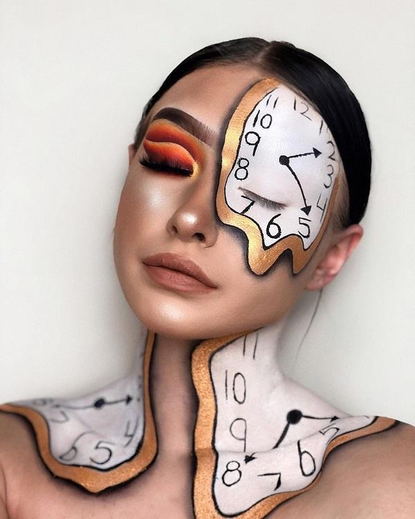 Half-Face Halloween makeup