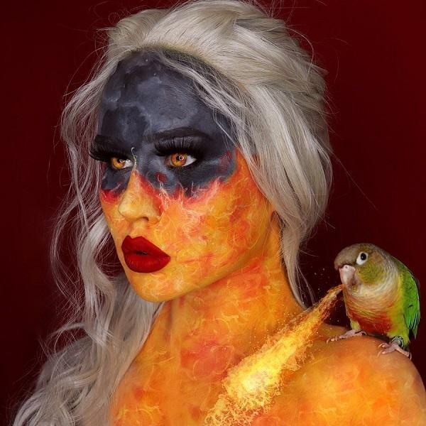 Fiery Dany Halloween makeup