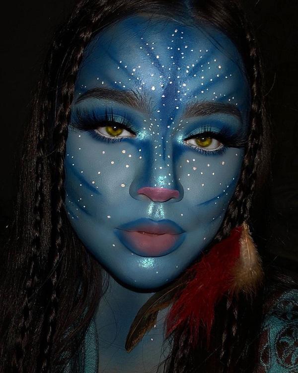 Charming Mystique Halloween makeup