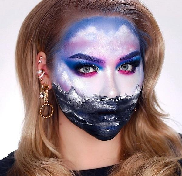 Ocean Landscape Halloween makeup