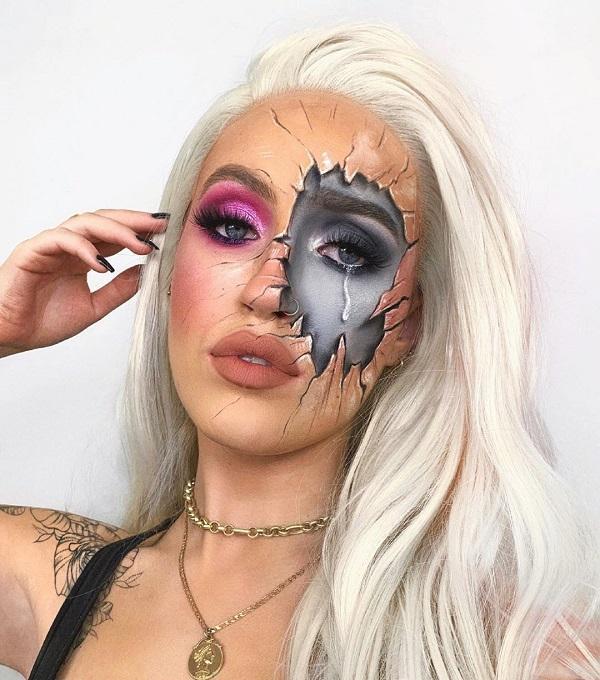 Wound Veins Halloween makeup