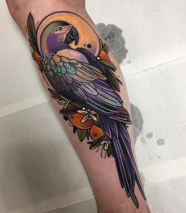 parrot tattoo