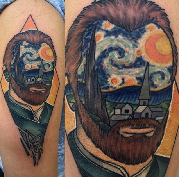 vincent van gogh tattoos A Great Starry Night Portrait