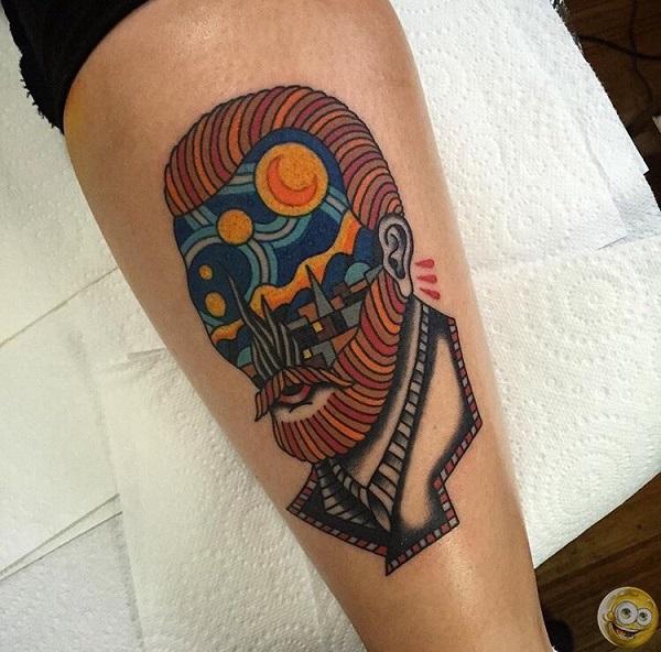 vincent van gogh tattoos A Starry Night Vincent Gogh Portrait