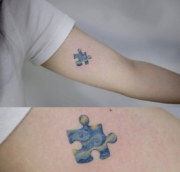 vincent van gogh tattoos Starry Night Puzzle Piece