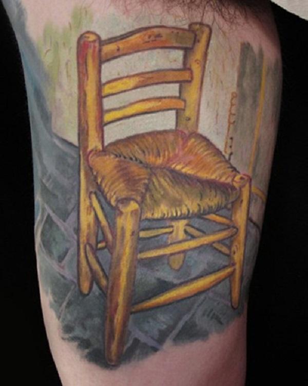 vincent van gogh tattoos Van Gogh's Chair Painting Tattoo